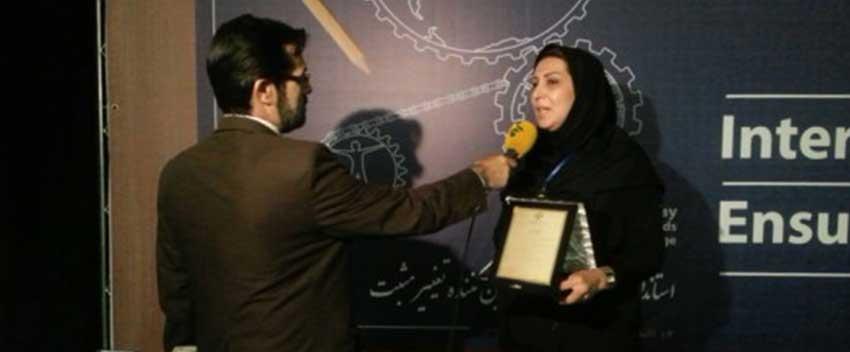 انتخاب سرکار خانم محمد بیگی به عنوان مدیر نمونه کنترل کیفیت کشوری و استانی
